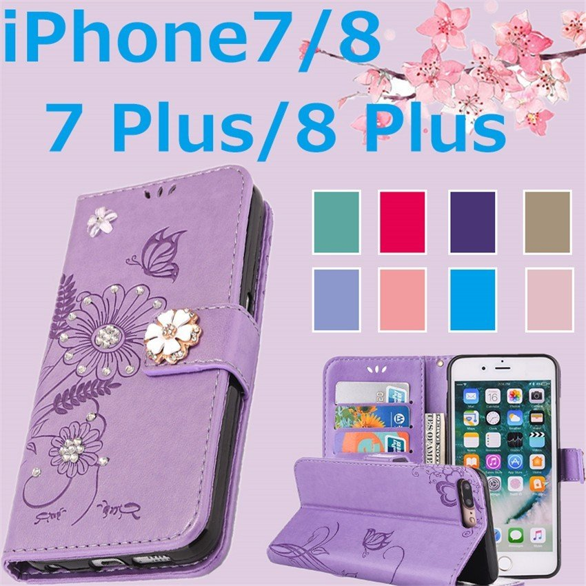 スマホケース 携帯ケース  iPhone6s iPhone7 iPhone 8 Plus ケース 手帳型 花柄 iPhone 11 X XR Xs Max SE2ケース  アイフォン6s Plus キラキラ 可愛い initial-k 08