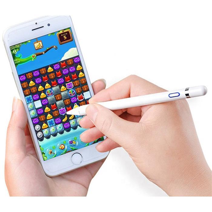 タッチペン 極細 タブレット スマホ スタイラスペン iPad iPhone スマートフォン 充電式  高感度 ペン先 1.5mm 導電繊維|inkoukoku|03
