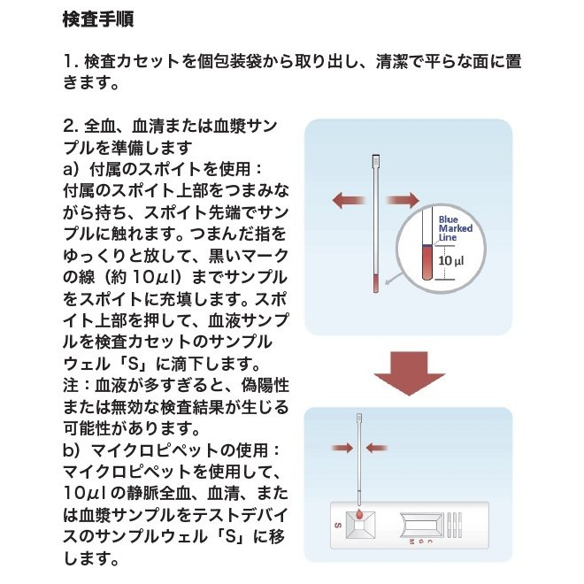 【25個入】 新型コロナウイルス COVID-19 抗体検査キットIgM/IgG 混合検査【送料無料】|inlabtech|02