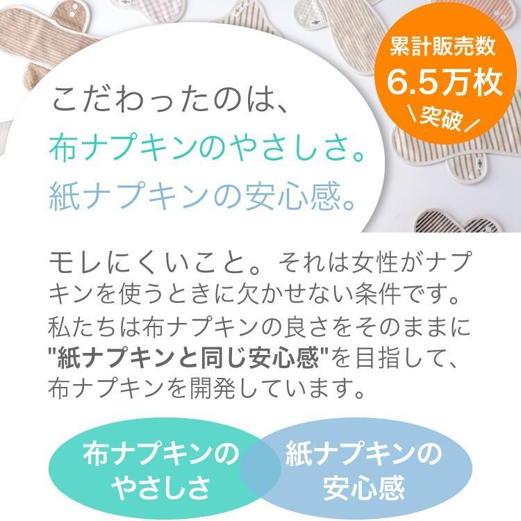 メール便送料無料 [ 布ナプキン 普通の日 ] Linten オーガニックコットン トライアルセット inner-direction 03