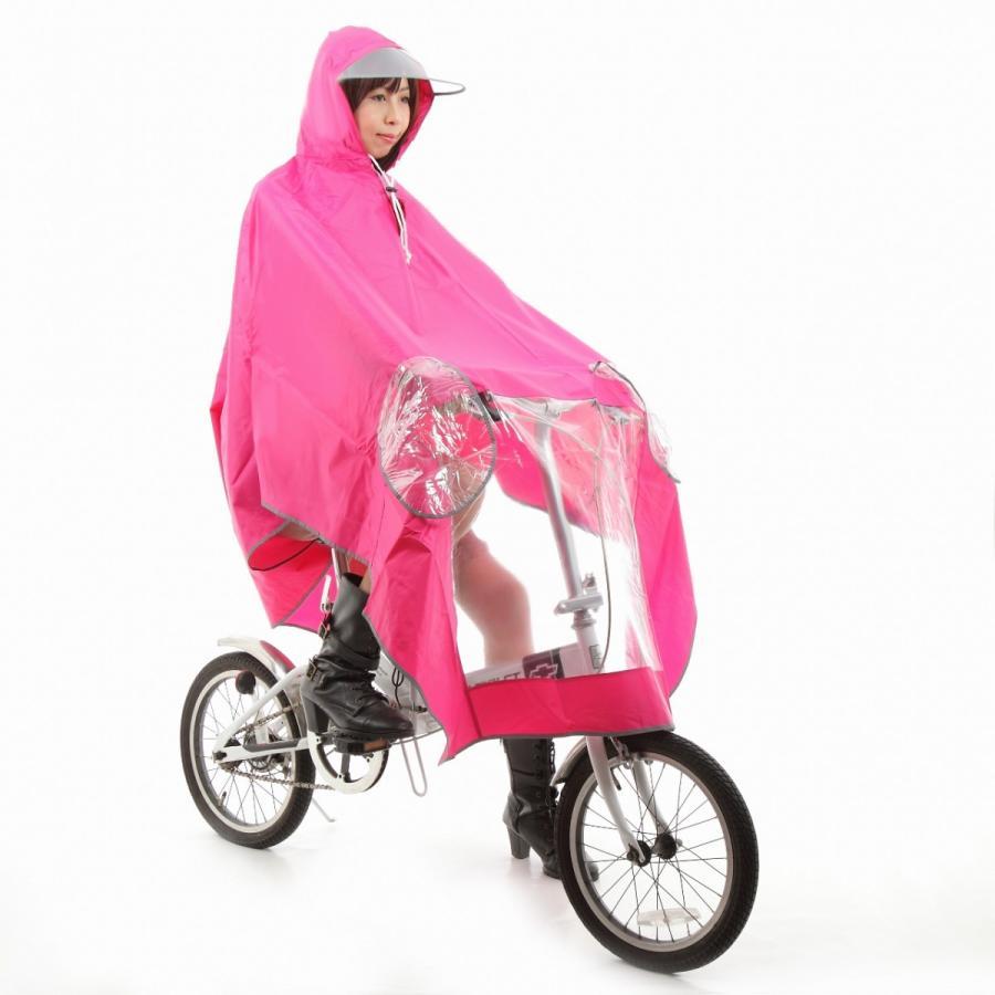 レインコート 自転車ポンチョ 自転車 カッパ 河童 帽子 ハンドル カバー 袖付き 雨 傘 雨具 雨合羽 おしゃれ 防水 レインウェア レディース メンズ innovationfactory247 10