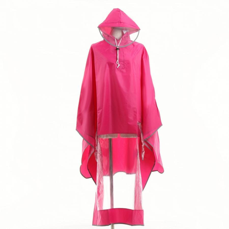 レインコート 自転車ポンチョ 自転車 カッパ 河童 帽子 ハンドル カバー 袖付き 雨 傘 雨具 雨合羽 おしゃれ 防水 レインウェア レディース メンズ innovationfactory247 15