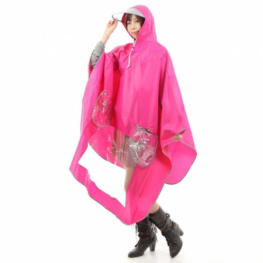 レインコート 自転車ポンチョ 自転車 カッパ 河童 帽子 ハンドル カバー 袖付き 雨 傘 雨具 雨合羽 おしゃれ 防水 レインウェア レディース メンズ innovationfactory247 08