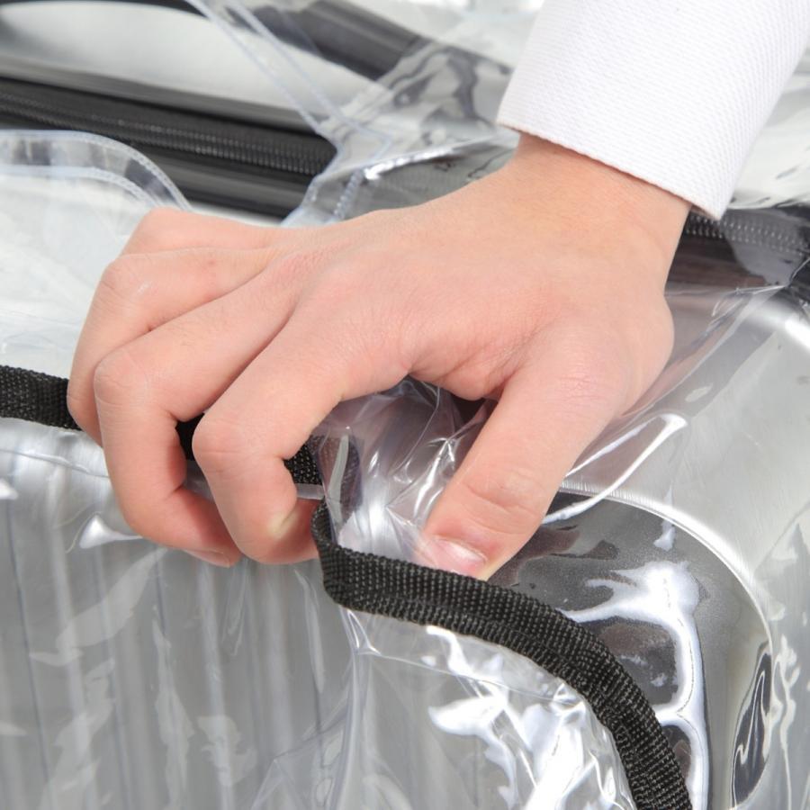 スーツケース スーツカバン レインカバー キャリーバッグ 防水 傷 汚れ 雨 保護 旅行 出張 クリア 透明 ラゲッジ ワゴン ビニール トラベル|innovationfactory247|15