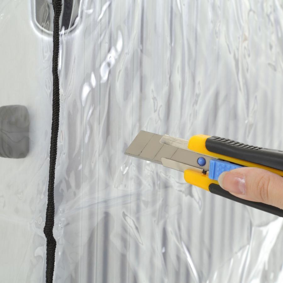 スーツケース スーツカバン レインカバー キャリーバッグ 防水 傷 汚れ 雨 保護 旅行 出張 クリア 透明 ラゲッジ ワゴン ビニール トラベル|innovationfactory247|09