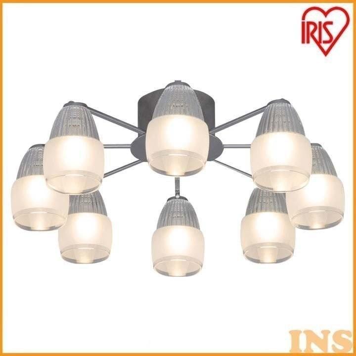 シャンデリア エイス 8灯 SHIS-8E17 付属電球(電球色相当) LDG5L-H-E17-WP アイリスオーヤマ