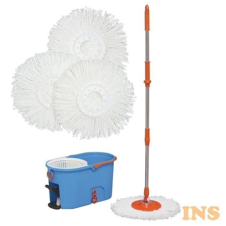 回転モップ 水切り 特価キャンペーン 手回し クリーナー フロアモップ 商品 洗浄 アイリスオーヤマ 清掃 掃除 脱水 KMO-540S