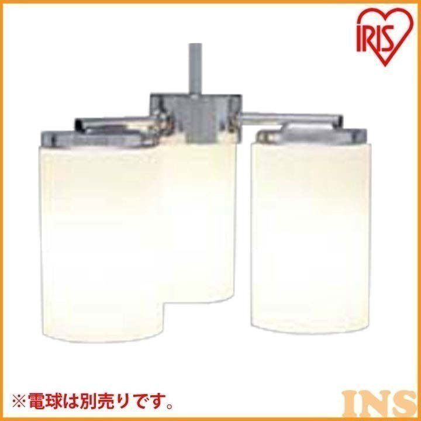 LEDペンダント3灯 チリンドロ 乳白/クロームメッキ 乳白/クロームメッキ PLS-3E26F アイリスオーヤマ