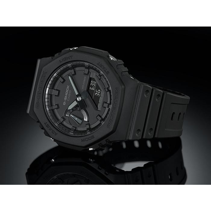 カシオーク 限定モデル G-SHOCK Gショック ジーショック カシオ CASIO アナデジ 腕時計 オールブラック GA-2100-1A1JF GA-2100-1A1 国内正規モデル inst 03