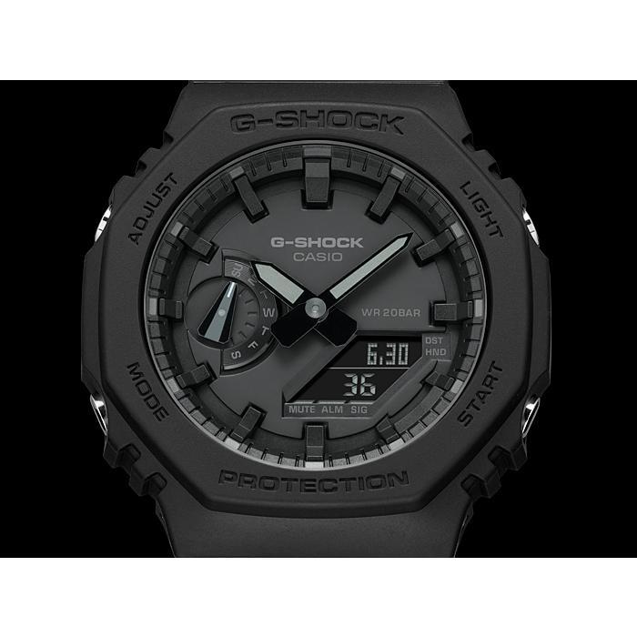 カシオーク 限定モデル G-SHOCK Gショック ジーショック カシオ CASIO アナデジ 腕時計 オールブラック GA-2100-1A1JF GA-2100-1A1 国内正規モデル inst 04