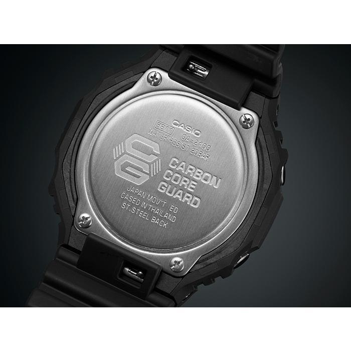 カシオーク 限定モデル G-SHOCK Gショック ジーショック カシオ CASIO アナデジ 腕時計 オールブラック GA-2100-1A1JF GA-2100-1A1 国内正規モデル inst 07