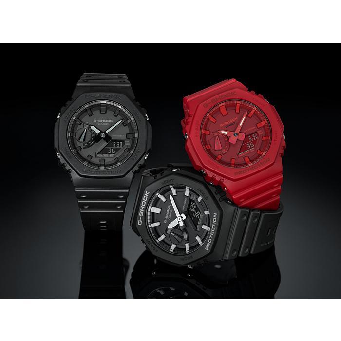 カシオーク 限定モデル G-SHOCK Gショック ジーショック カシオ CASIO アナデジ 腕時計 オールブラック GA-2100-1A1JF GA-2100-1A1 国内正規モデル inst 08