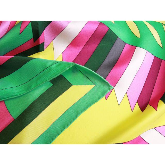 39a0e6e47af7cc シルク100% 高級サテンスカーフ(リボン) 緑 ピンク 黄 サテンシルク ...