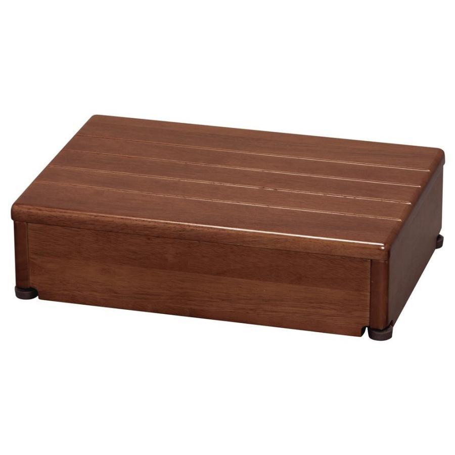 【同梱・代引き不可】 木製玄関台 1段型 1段型 ブラウン 45W-30-1段