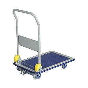 送料無料金沢車輌 ブレーキ付スチール台車 耐荷重:150kg 1台