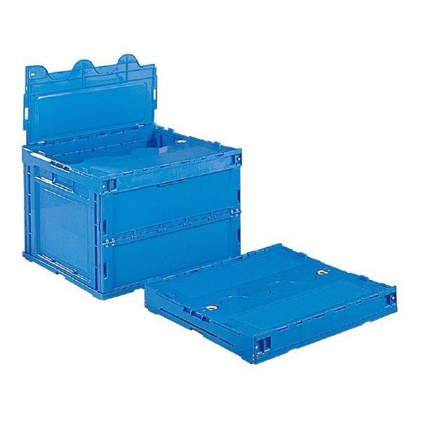 送料無料三甲(サンコー) 折りたたみコンテナボックス/サンクレットオリコン 〔フタ付き〕 P84B ブルー(青)〔代引不可〕 ブルー(青)〔代引不可〕 ブルー(青)〔代引不可〕 abb