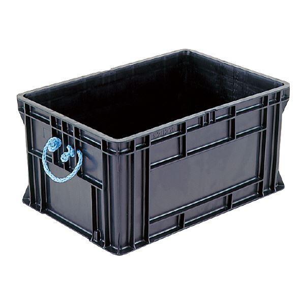 送料無料三甲(サンコー) 導電性コンテナボックス/テンバコ 〔77.9L〕 段積み可 段積み可 段積み可 ED-75 ブラック(黒)〔代引不可〕 10e