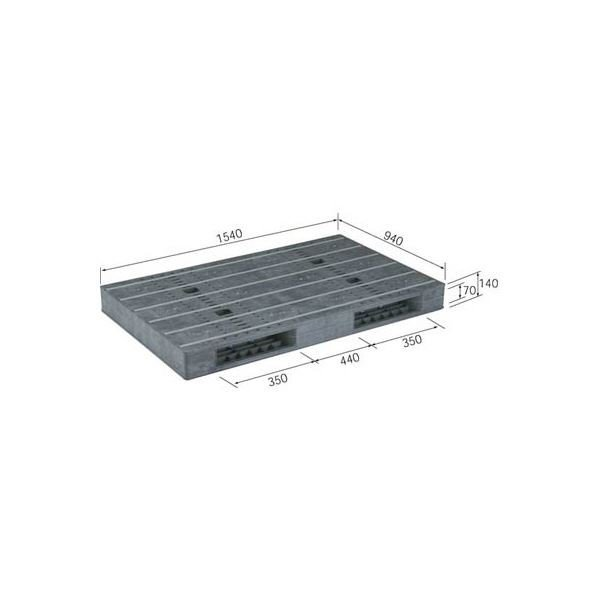 送料無料三甲(サンコー) プラスチックパレット/プラパレ 〔両面使用型〕 段積み可 R2-1509F-2(PP) ブラック(黒)〔代引不可〕