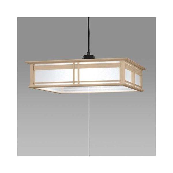 送料無料日立 LED和風木枠ペンダントライト〜8畳 LEP-CA801EJ