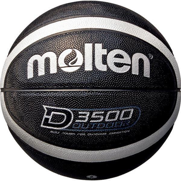 送料無料〔モルテン Molten〕 アウトドア用 バスケットボール 〔6号球 ブラック×シルバー〕 人工皮革 高耐摩耗性 〔運動 スポーツ用品〕