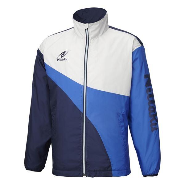送料無料ニッタク(Nittaku) 卓球アパレル LIGHT WARMER SPR SHIRT(ライトウォーマーSPRシャツ)男女兼用 NW2848 ブルー SS