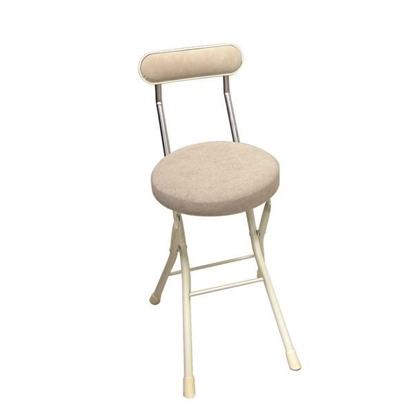 送料無料折りたたみ椅子 〔同色4脚セット 〔同色4脚セット アイボリー×ミルキーホワイト〕 幅33cm 日本製 スチールパイプ 『セレナチェア』〔代引不可〕