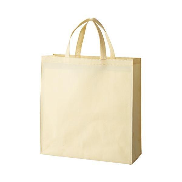 送料無料(まとめ) スマートバリュー 不織布手提げバッグ小10枚ベージュB450J-BE〔×10セット〕