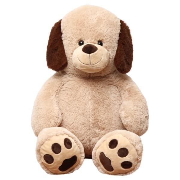 送料無料〔8個セット〕子供用 ぬいぐるみ/人形 〔犬型 ベージュ〕 幅45cm 〔おもちゃ 子ども部屋〕〔代引不可〕