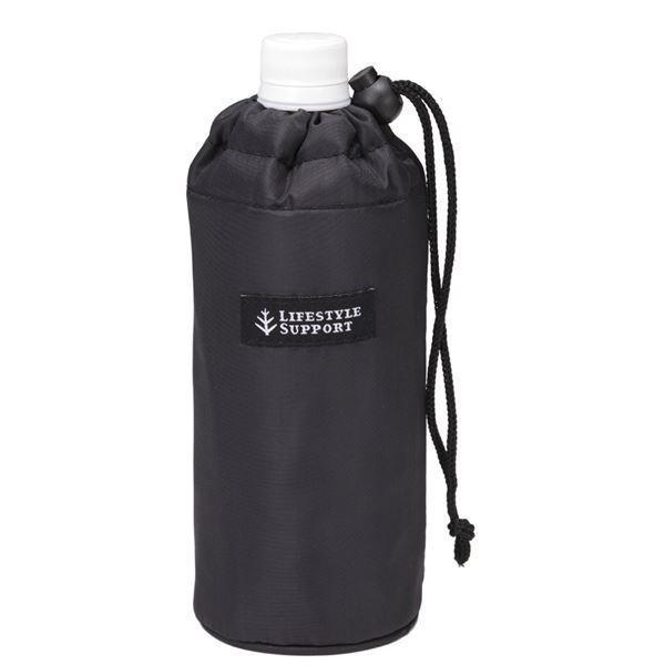 送料無料(まとめ)ペットボトル カバー シンプル(BK) 〔240個セット〕