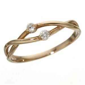 格安販売の 送料無料K18PGインフィニティダイヤリング 指輪 13号, 愛曲楽器 fa1402df