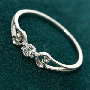 お得セット 送料無料K18WG アンティーク調ダイヤリング 指輪 7号, トラウトマウンテン 0fb556a6