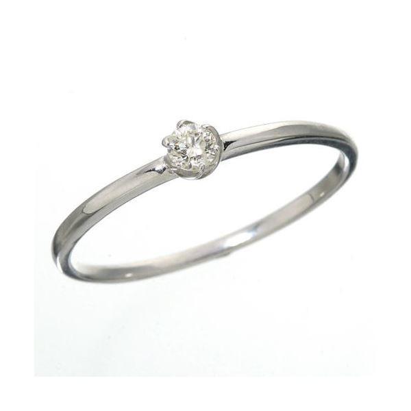 高い素材 送料無料K18 ダイヤリング 指輪 シューリング ホワイトゴールド 7号, 宇都宮市 8e6f2484