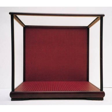木製人形ケース 幅×横幅=25×20cm 高さ35・40cm バックの色 ワイン色・金色 日本製 送料無料
