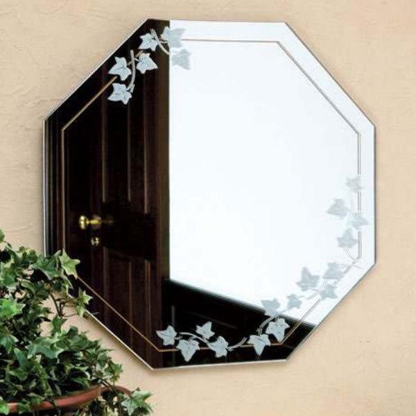 八角鏡 おしゃれ 八角ミラー 玄関 ウォールミラー おしゃれ 壁掛け鏡 北欧 壁掛けミラー 八角形 風水