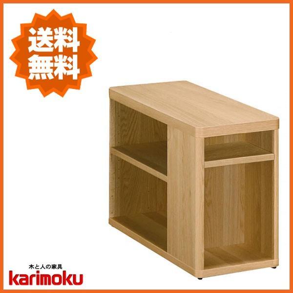 カリモク サイドテーブル おしゃれ おしゃれ 木製 ソファテーブル 北欧 ソファーテーブル 幅80cm ナイトテーブル スリム