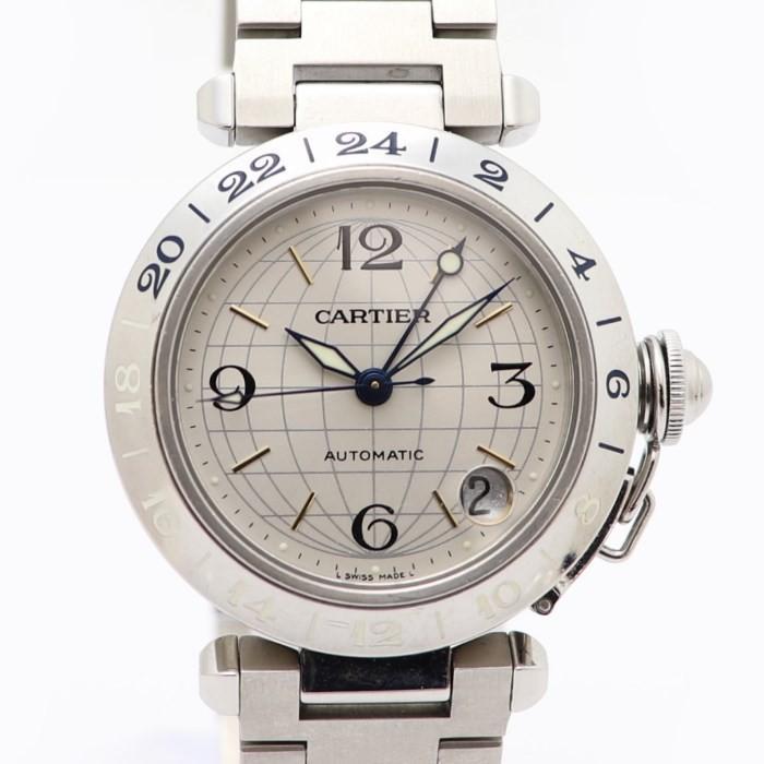 【メーカー直売】 【 SS】カルティエ パシャC W31029M7 メリディアン 腕時計 ボーイズ GMT SS 自動巻き 自動巻き W31029M7, 激安ブランド:b4fcbbe5 --- airmodconsu.dominiotemporario.com