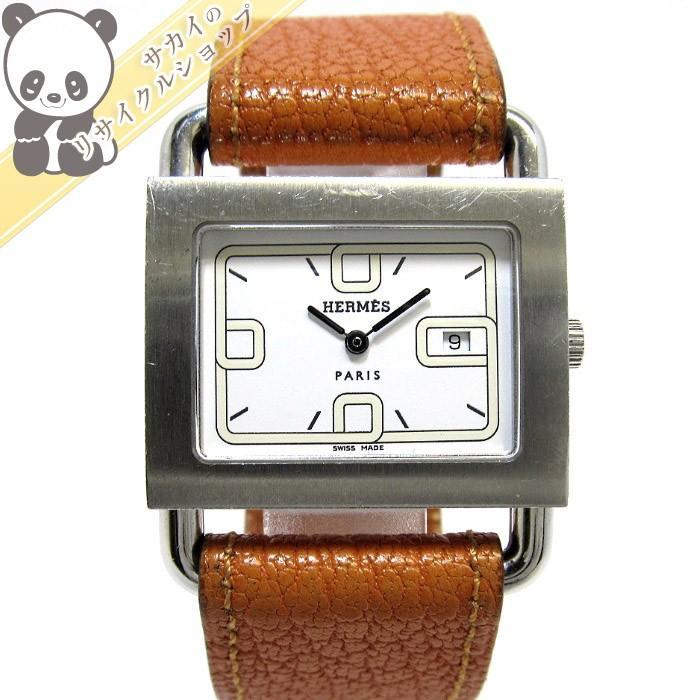 新しい到着 HERMES レザー バレニア レディース腕時計 SS BA1.510 レザー クオーツ 文字盤ホワイト BA1.510【送料無料 クオーツ】【レディース】【watch】, 須木村:3775f887 --- airmodconsu.dominiotemporario.com