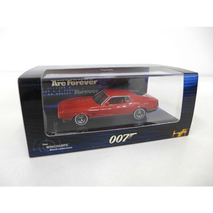 MINICHAMPS ミニチャンプス Ford Mustang Mach 1 フォード マスタング マッハ ボンドコレクション 007 レッド 1/43 ミニカー【中古】[ne][JG]