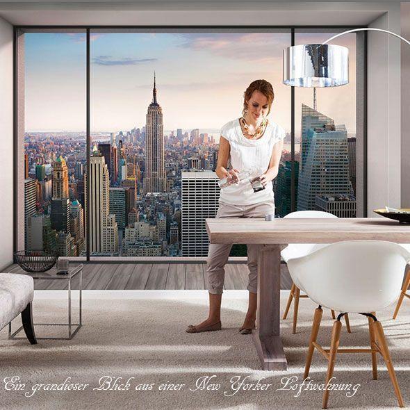 おしゃれな輸入壁紙 クロス 風景写真 368cm×254cm ドイツ製壁紙/8NW-916 Penthouse Penthouse