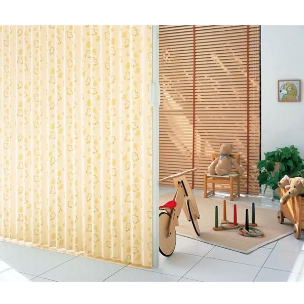 アコーディオン カーテン 間仕切り ニチベイ やまなみエコー クマサン 幅 161〜195cmX高さ 141cm〜180cmまで