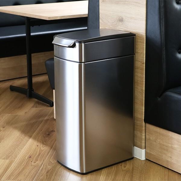 正規品 ゴミ箱 シンプルヒューマン スリム ふた付き simplehuman 40L スリムタッチバーダストボックス ( 送料無料 縦型 ごみ箱 キッチン 分別 )|interior-palette|11