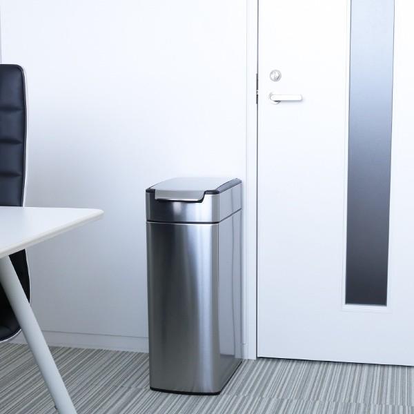 正規品 ゴミ箱 シンプルヒューマン スリム ふた付き simplehuman 40L スリムタッチバーダストボックス ( 送料無料 縦型 ごみ箱 キッチン 分別 )|interior-palette|13