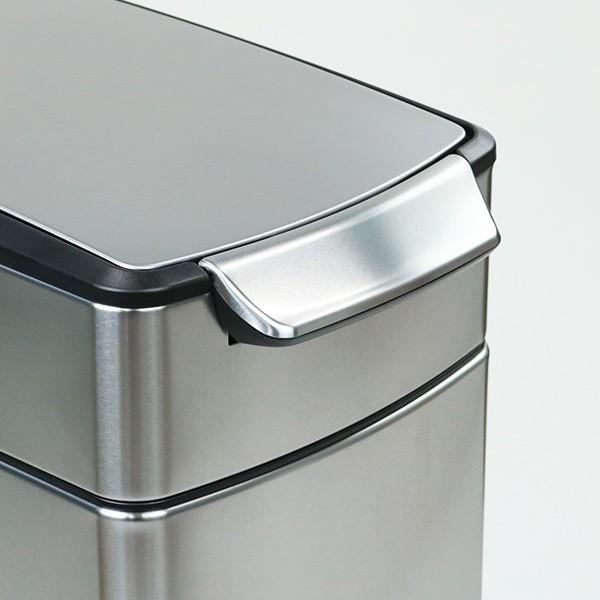 正規品 ゴミ箱 シンプルヒューマン スリム ふた付き simplehuman 40L スリムタッチバーダストボックス ( 送料無料 縦型 ごみ箱 キッチン 分別 )|interior-palette|16