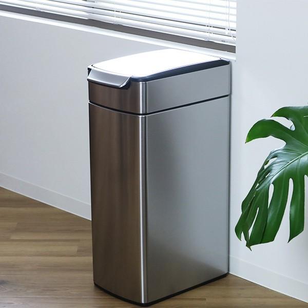 正規品 ゴミ箱 シンプルヒューマン スリム ふた付き simplehuman 40L スリムタッチバーダストボックス ( 送料無料 縦型 ごみ箱 キッチン 分別 )|interior-palette|18