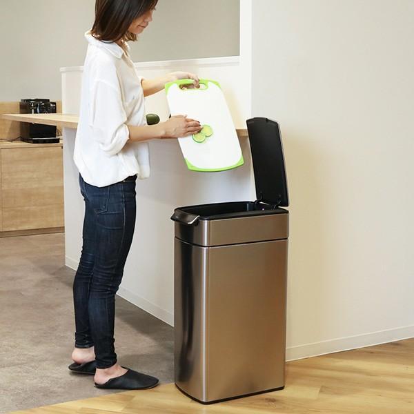 正規品 ゴミ箱 シンプルヒューマン スリム ふた付き simplehuman 40L スリムタッチバーダストボックス ( 送料無料 縦型 ごみ箱 キッチン 分別 )|interior-palette|20