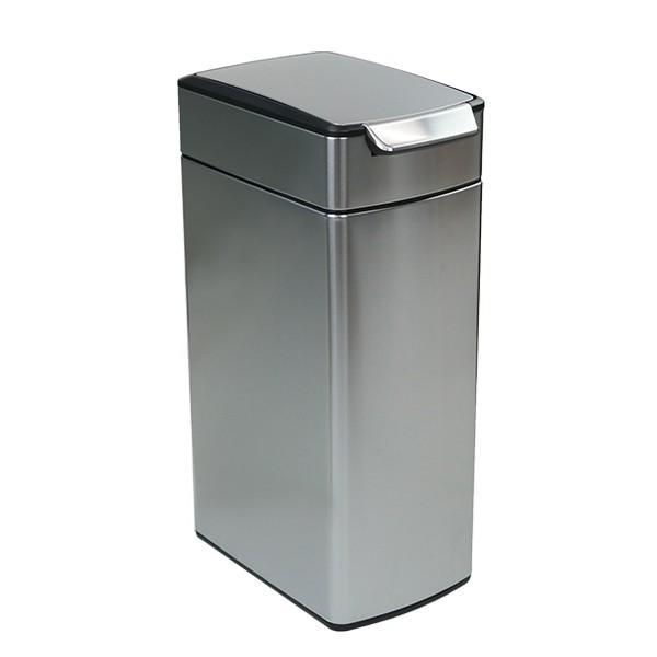 正規品 ゴミ箱 シンプルヒューマン スリム ふた付き simplehuman 40L スリムタッチバーダストボックス ( 送料無料 縦型 ごみ箱 キッチン 分別 )|interior-palette|07