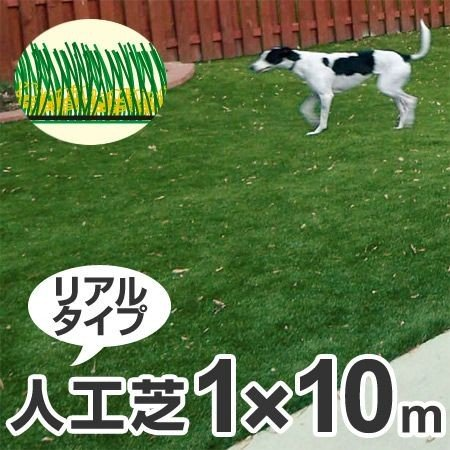 人工芝 屋外用シート リアリーターフ 1m幅×10m巻 パイル長2cm ( マット ロール リアルタイプ )