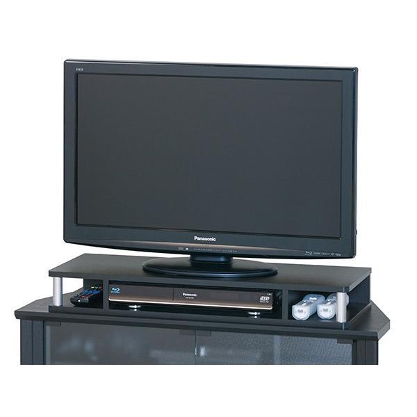 テレビ台 AVボード ちょい足しラック 幅79cm ブラック ( PC台 パソコン台 TVボード テレビラック TV台 高さ調整 高さ足し )|interior-palette|08