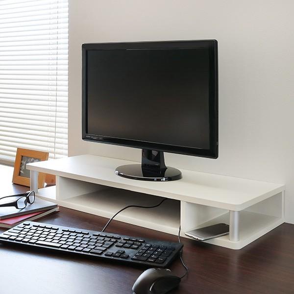テレビ台 AVボード ちょい足しラック 幅79cm ブラック ( PC台 パソコン台 TVボード テレビラック TV台 高さ調整 高さ足し )|interior-palette|09