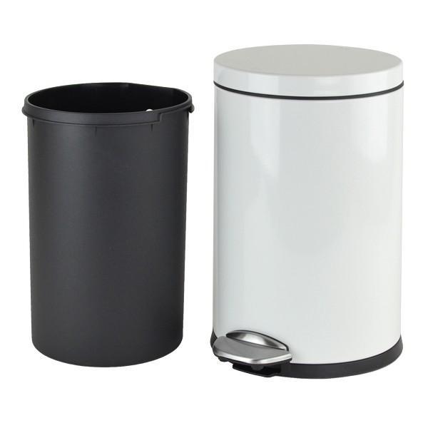 ゴミ箱 ペダル EKO ルナ ステップビン 8L ホワイト ( ごみ箱 ダストボックス おしゃれ ステンレス シンプル インナー付 洗える )|interior-palette|05